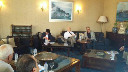 Συναντηση προεδρου Σ.Ε.Τ. με τον υπουργο Οικονομιας και Αναπτυξης κ.Παπαδημητριου