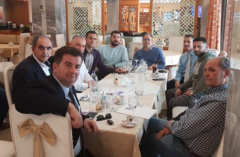 Συναντηση του Σ.Ε.Τ. με τον υποψηφιο ευρωβουλευτη κ.Μανωλη Κεφαλογιαννη
